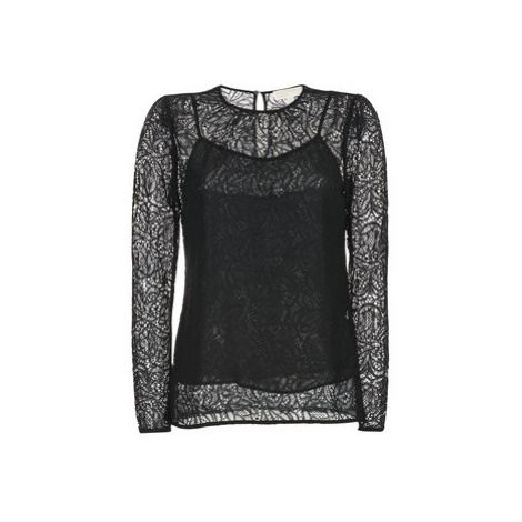 MICHAEL Michael Kors STRECH LACE T-S women's Blouse in Black