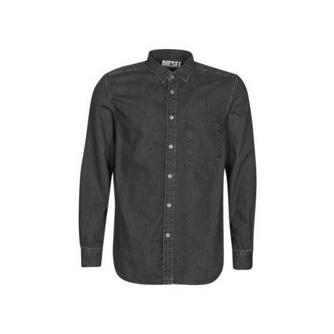 Diesel D-BER-P men's Long sleeved Shirt in Black