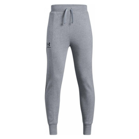 Under Armour RIVAL BLOCKED JOGGER gray - Children's tracksuit bottoms
