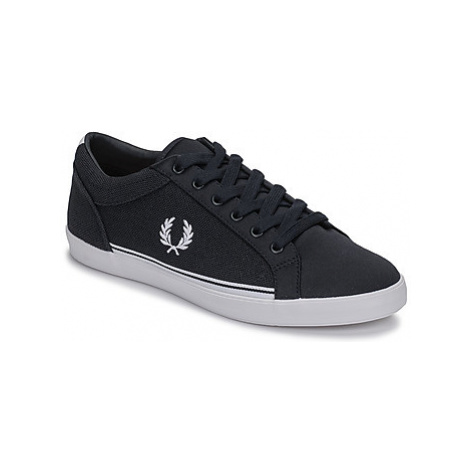 Fred Perry BASELINE PIQUE / TRICOT men's Shoes (Trainers) in Blue