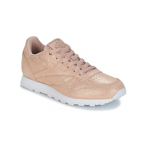 Reebok Classic CLASSIC LEATHER J girls's Children's Shoes (Trainers) in Gold