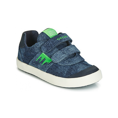 Geox B KILWI BOY boys's Children's Shoes (Trainers) in Blue