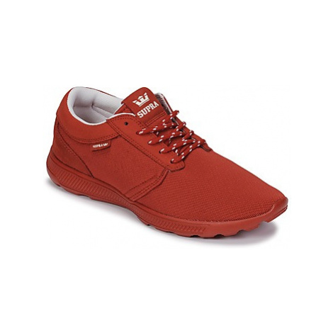 Red women's running shoes