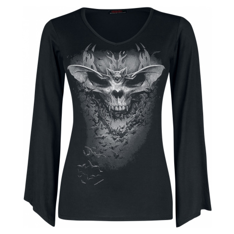 Spiral - Bat Skull - Girls longsleeve - black