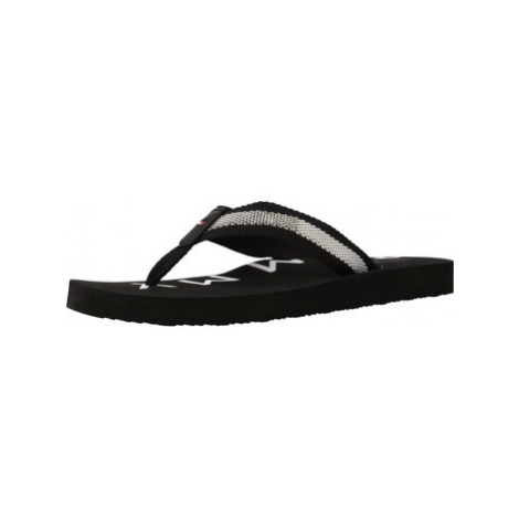 Tommy Hilfiger FLAT BEACH SANDAL HILFIG women's Flip flops / Sandals (Shoes) in Black