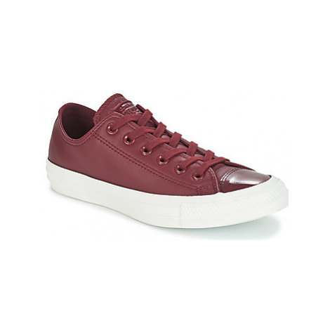 Converse CHUCK TAYLOR ALL STAR LEATHER OX women's Shoes (Trainers) in Bordeaux
