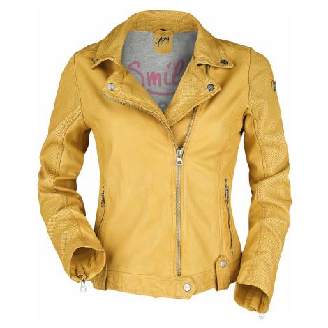 Gipsy - - Girls leather jacket - yellow