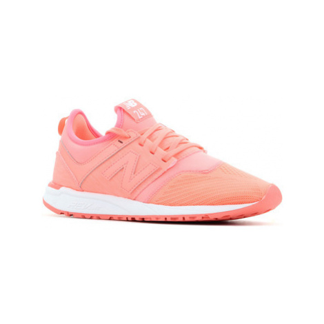 New Balance WRL247SW women's Shoes (Trainers) in Orange