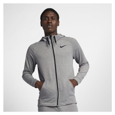 Nike Dri-FIT Men's Full-Zip Training Hoodie - Grey