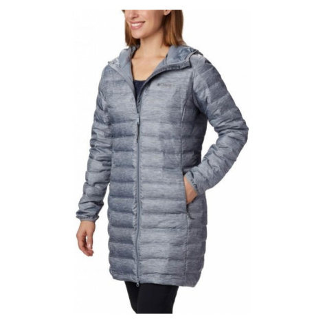 Columbia LAKE 22 DOWN LONG HOODED JACKET gray - Women's down jacket