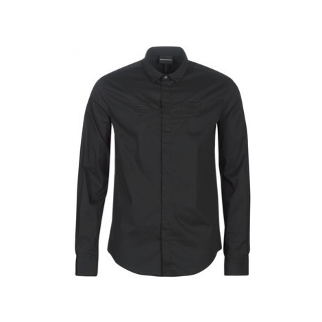 Emporio Armani 6G1C65-1NQPZ-1001 men's Long sleeved Shirt in Black