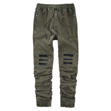 RED by EMP Casual trousers in cargo look with biker elements Cargo Trousers olive