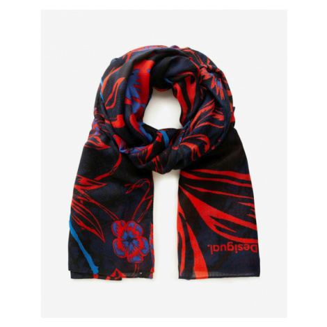 Desigual Be Blossom Large Scarf Blue Red