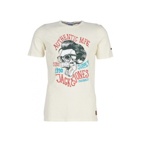 Jack Jones JORSKALLY men's T shirt in Beige Jack & Jones