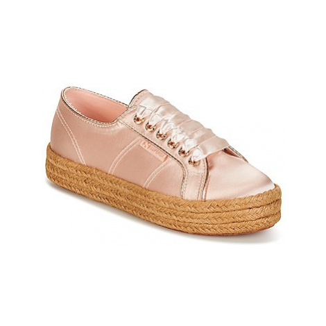 Superga 2730 SATIN COTMETROPE W women's Shoes (Trainers) in Pink