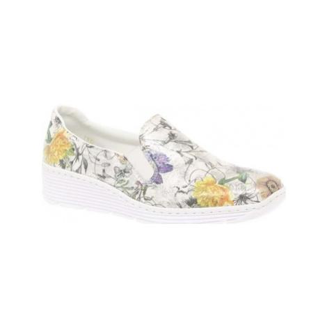 Rieker Jinx Womens Casual Slip On Shoes women's Slip-ons (Shoes) in Multicolour