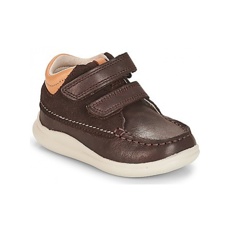 Clarks Cloud Tuktu boys's Children's Shoes (High-top Trainers) in Brown