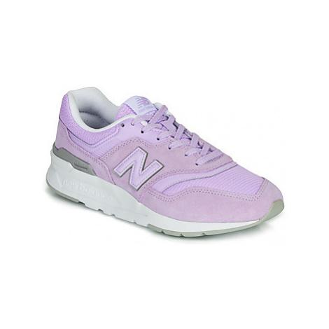 Purple women's training shoes