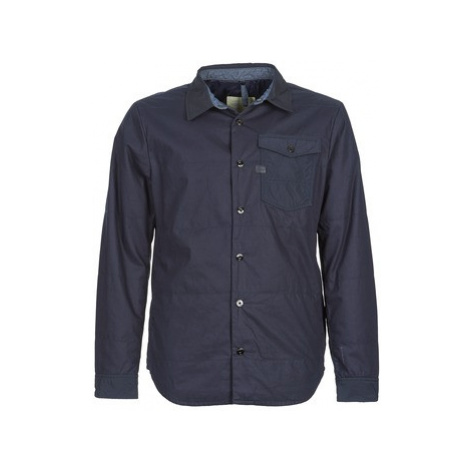 G-Star Raw A CROTCH INDIGO OVERSHIRT L/S men's Jacket in Blue