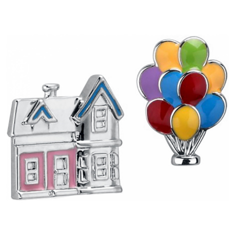 Up - Disney by Couture Kingdom - House and Balloons - Earpin set - silver-coloured