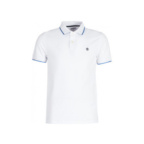 Timberland SS POLO men's Polo shirt in White