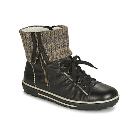 Rieker - women's Shoes (High-top Trainers) in Black