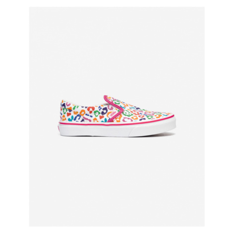 Vans Classic Slip On Kids Pink White Colorful