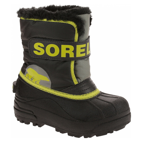 shoes Sorel Snow Commander - Dark Gray/Warning Yellow - kid´s