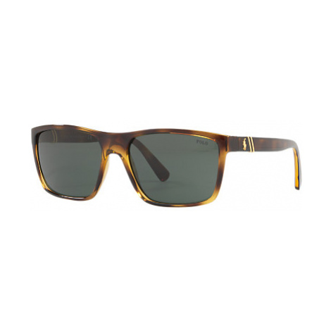 Polo Ralph Lauren PH4133 Men's Polarised Rectangular Sunglasses