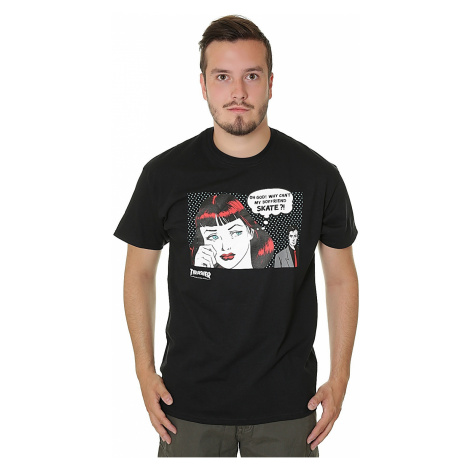 T-Shirt Thrasher New Boyfriend - Black