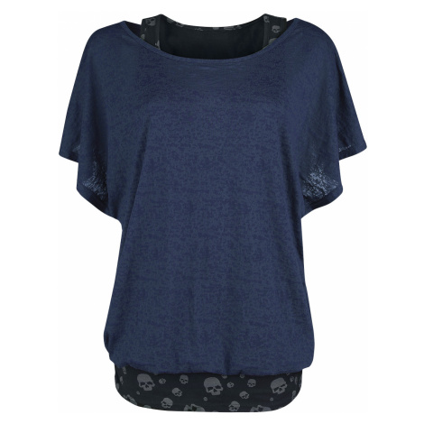 Black Premium by EMP - When The Heart Rules The Mind - Girls shirt - blue