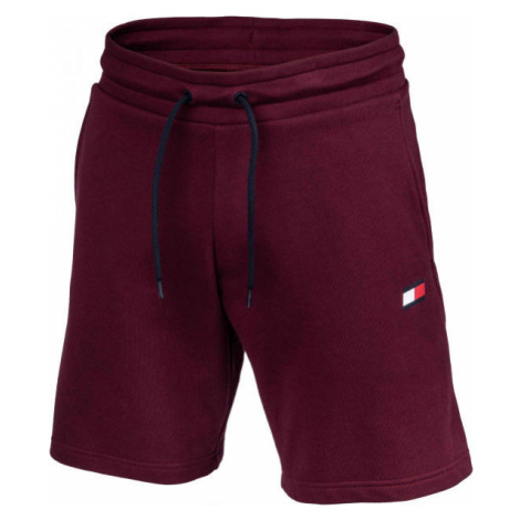Tommy Hilfiger 9' KNIT SHORTS FLEECE red wine - Men's shorts