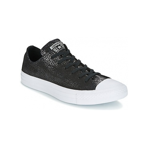 Converse Chuck Taylor All Star Ox Tipped Metallic women's Shoes (Trainers) in Black