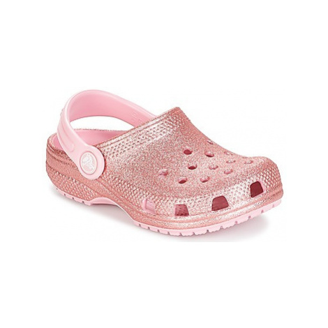 Crocs CLASSIC GLITTER CLOG K girls's Children's Clogs (Shoes) in Pink