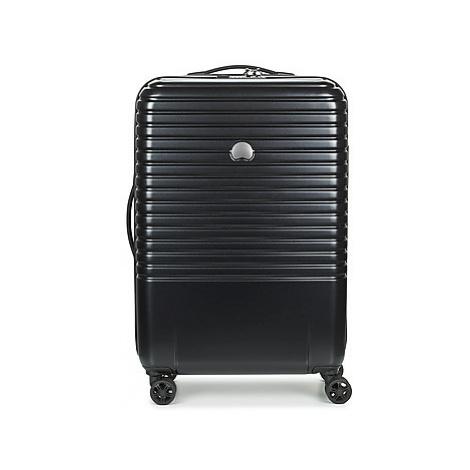 Delsey CAUMARTIN + 4DR 65CM men's Hard Suitcase in Black