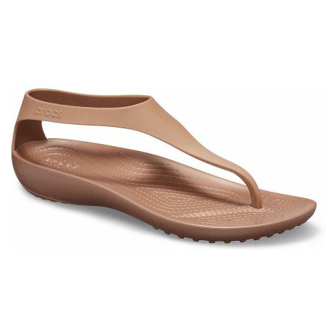 shoes Crocs Serena Flip - Bronze/Bronze - women´s