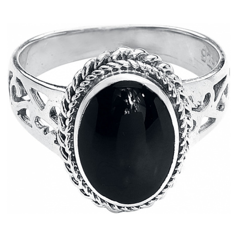 EtNox - Black Onyx - Ring - silver-coloured