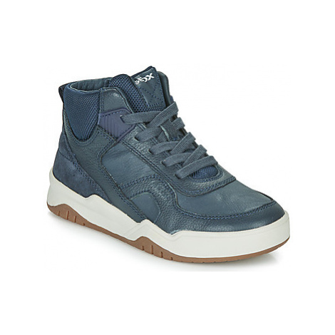 Geox J PERTH BOY boys's Children's Shoes (High-top Trainers) in Blue