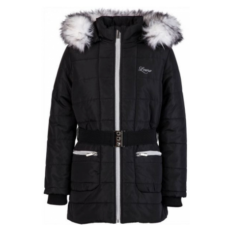 Lewro NATALIE black - Girls' winter coat