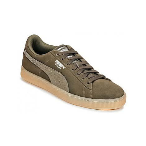 Puma SUEDE CLASSIC BUBBLE W'S women's Shoes (Trainers) in Kaki