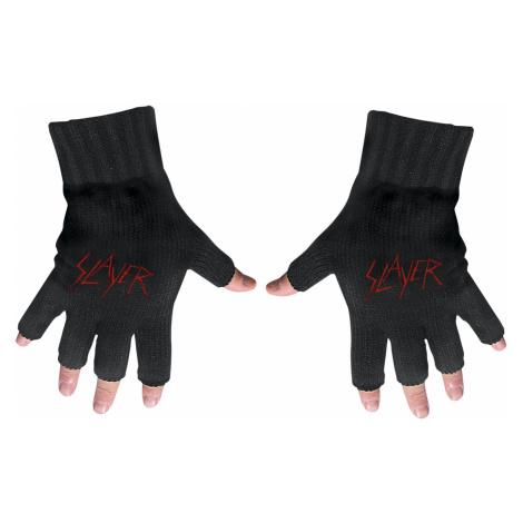 Slayer - Logo - Fingerless gloves - black