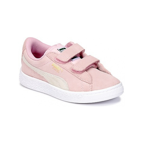 Puma SUEDE 2 STRAPS PS girls's Children's Shoes (Trainers) in Pink