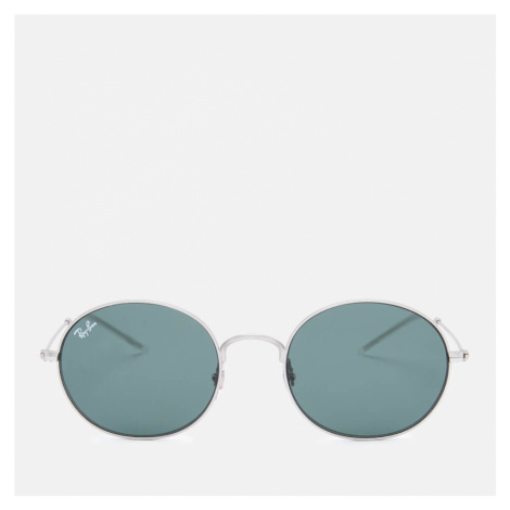 Ray-Ban Women's Metal Round Frame Sunglasses - Rubber Silver