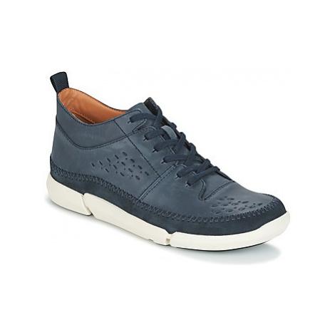 Clarks TRIFRI HI men's Shoes (Trainers) in Blue