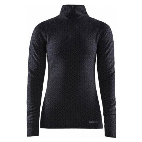 Craft MERINO 240 ZIP LS black - Women's functional T-shirt