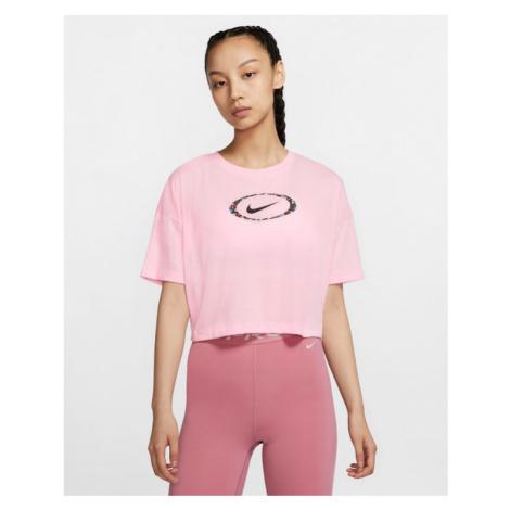 Nike Dri-Fit Crop Top Pink Beige