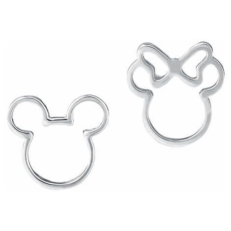 Mickey Mouse - Disney by Couture Kingdom - Mickey and Minnie - Earpin set - silver-coloured