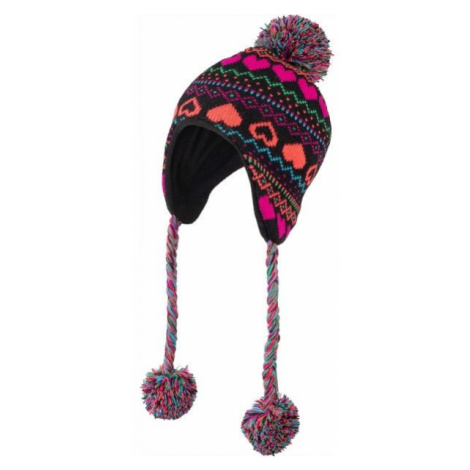 Lewro HANZ brown - Girls' knitted hat