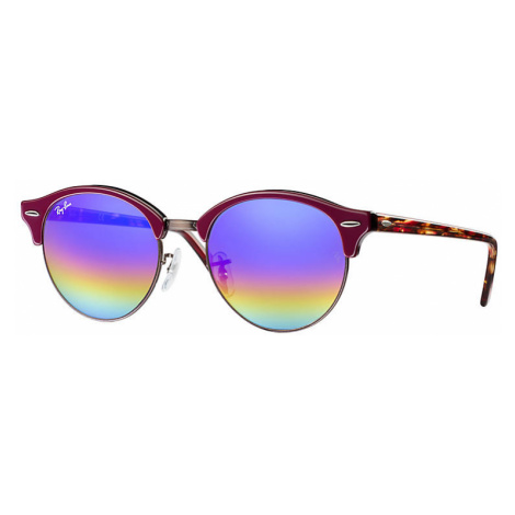 Ray-Ban Clubround mineral flash lenses Unisex Sunglasses Lenses: Blue, Frame: Red - RB4246 1222C