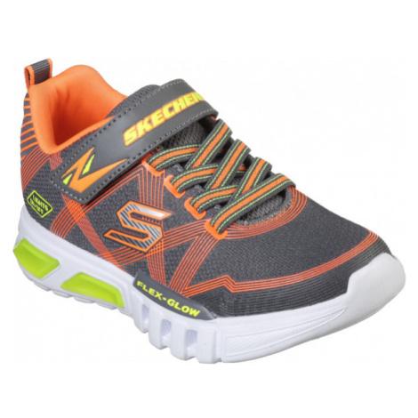 Skechers S-LIGHTS: FLEX-GLOW dark gray - Boys flashing sneakers
